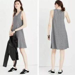 Madewell High Point Striped Tank A-Line Dress